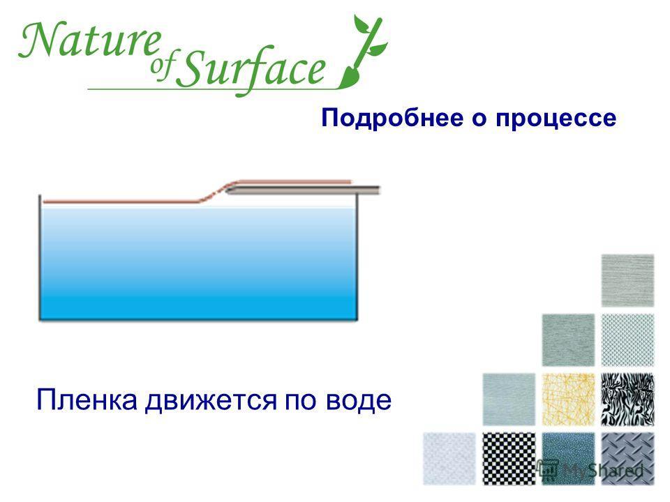Пленка движется по воде Подробнее о процессе