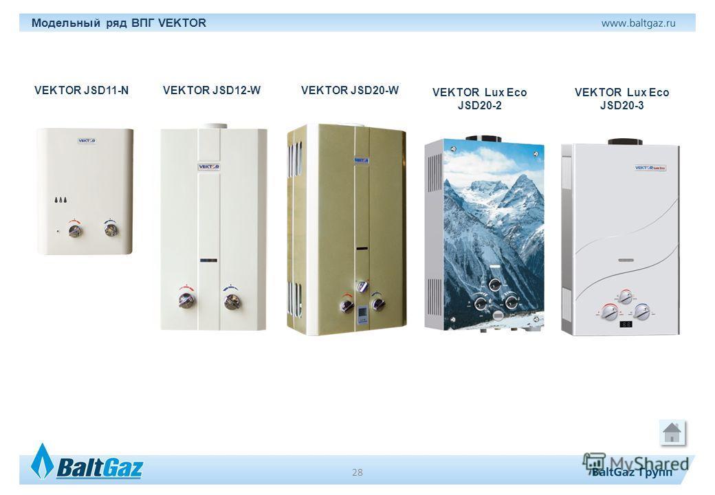 Модельный ряд ВПГ VEKTOR VEKTOR JSD11-NVEKTOR JSD20-W VEKTOR Lux Eco JSD20-3 VEKTOR Lux Eco JSD20-2 VEKTOR JSD12-W 28