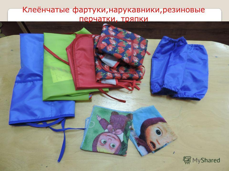 Клеёнчатые фартуки,нарукавники,резиновые перчатки, тряпки