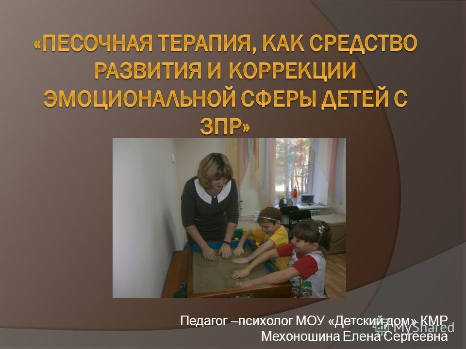 Педагог –психолог МОУ «Детский дом» КМР Мехоношина Елена Сергеевна