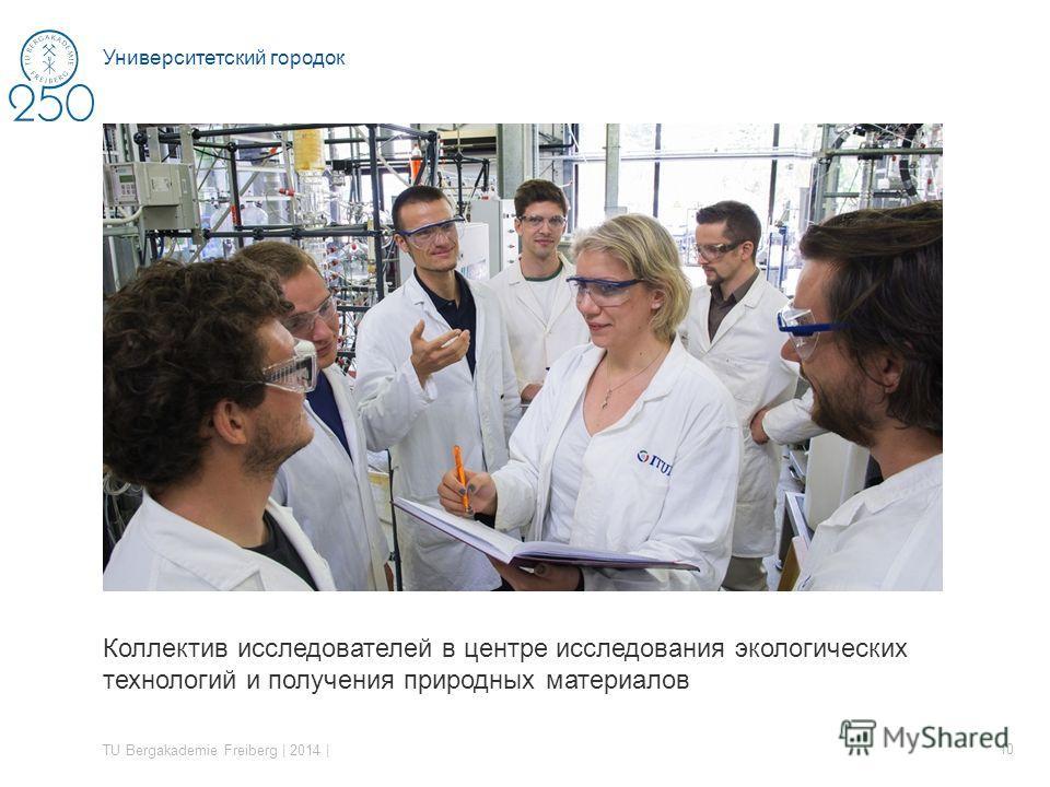 Коллектив исследователей в центре исследования экологических технологий и получения природных материалов TU Bergakademie Freiberg | 2014 | 10 Университетский городок