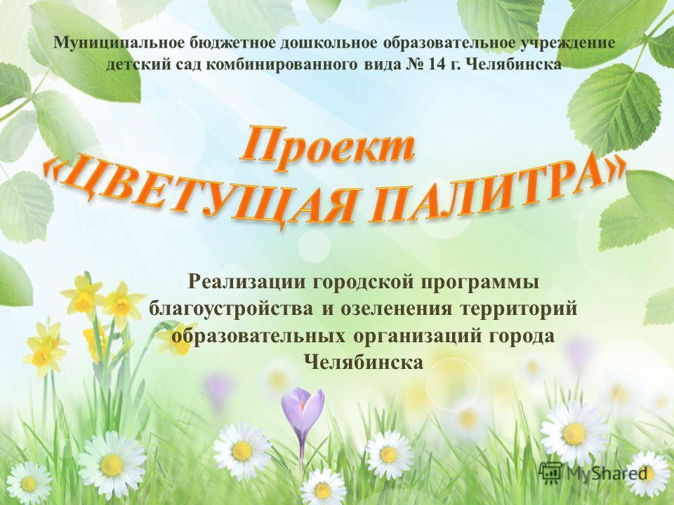 Реализации городской программы благоустройства и озеленения территорий образовательных организаций города Челябинска