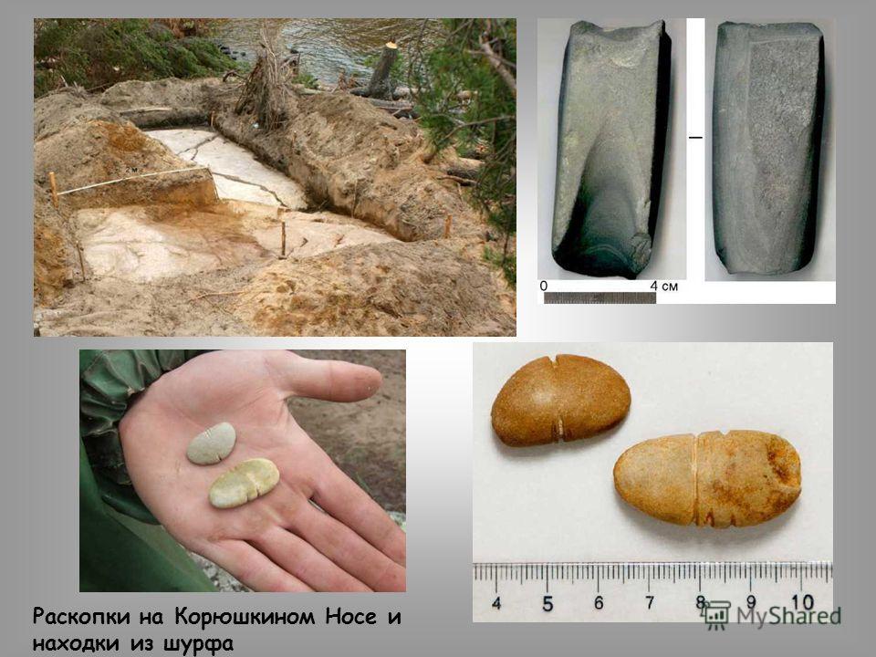 Раскопки на Корюшкином Носе и находки из шурфа