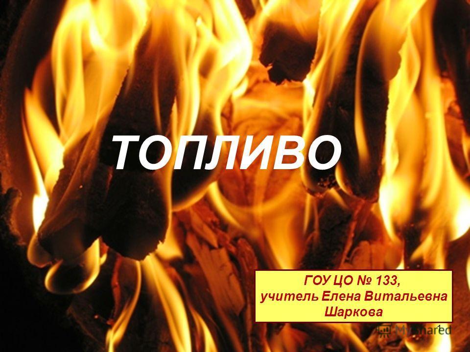 ТОПЛИВО ГОУ ЦО 133, учитель Елена Витальевна Шаркова 1