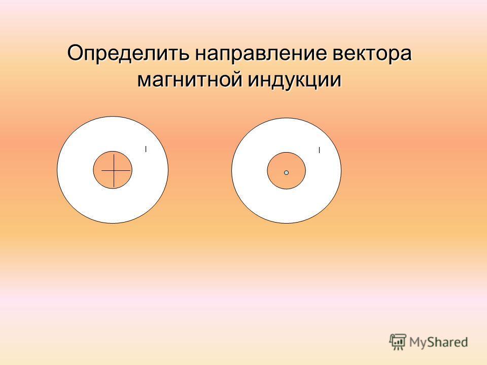 I I Определить направление вектора магнитной индукции
