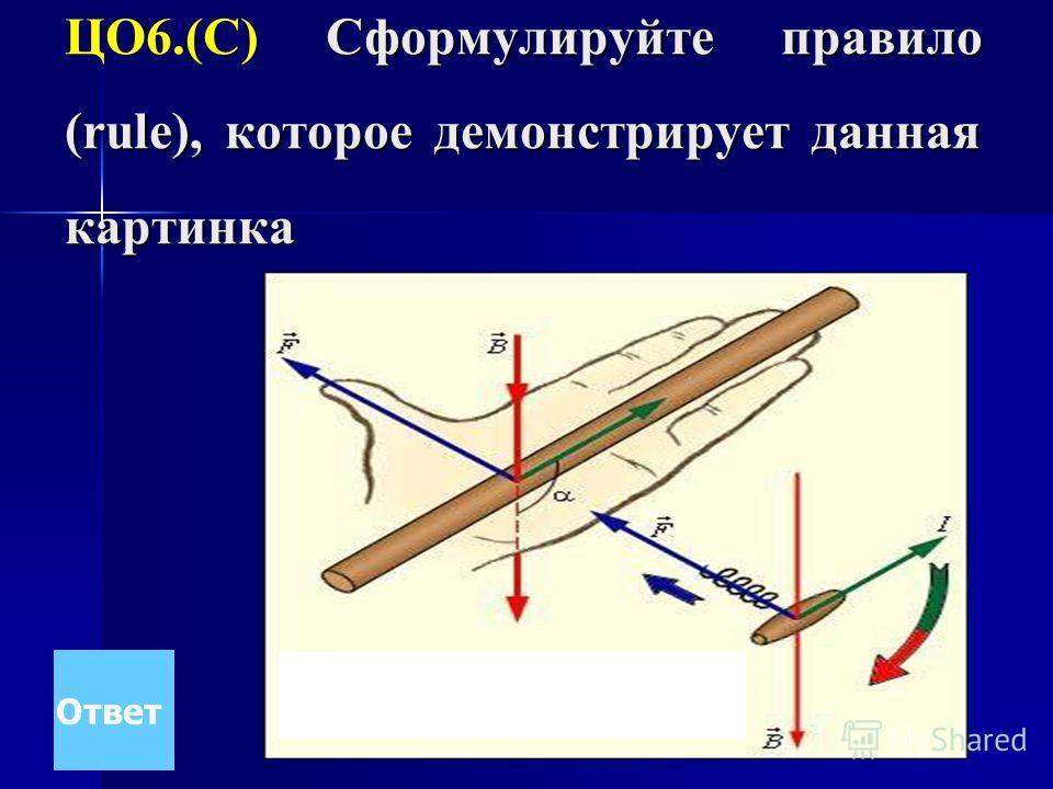 Сформулируйте правило (rule), которое демонстрирует данная картинка ЦО6.(С) Сформулируйте правило (rule), которое демонстрирует данная картинка Ответ