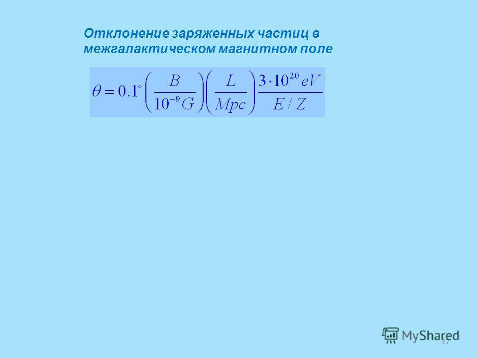 Отклонение заряженных частиц в межгалактическом магнитном поле 37