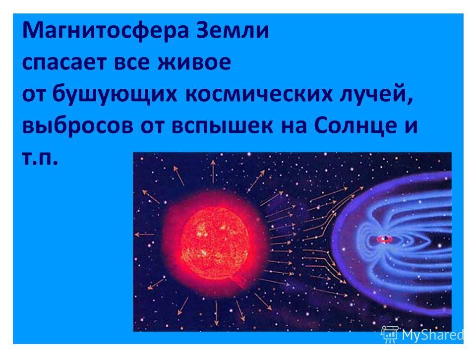 Магнитосфера Земли спасает все живое от бушующих космических лучей, выбросов от вспышек на Солнце и т.п.