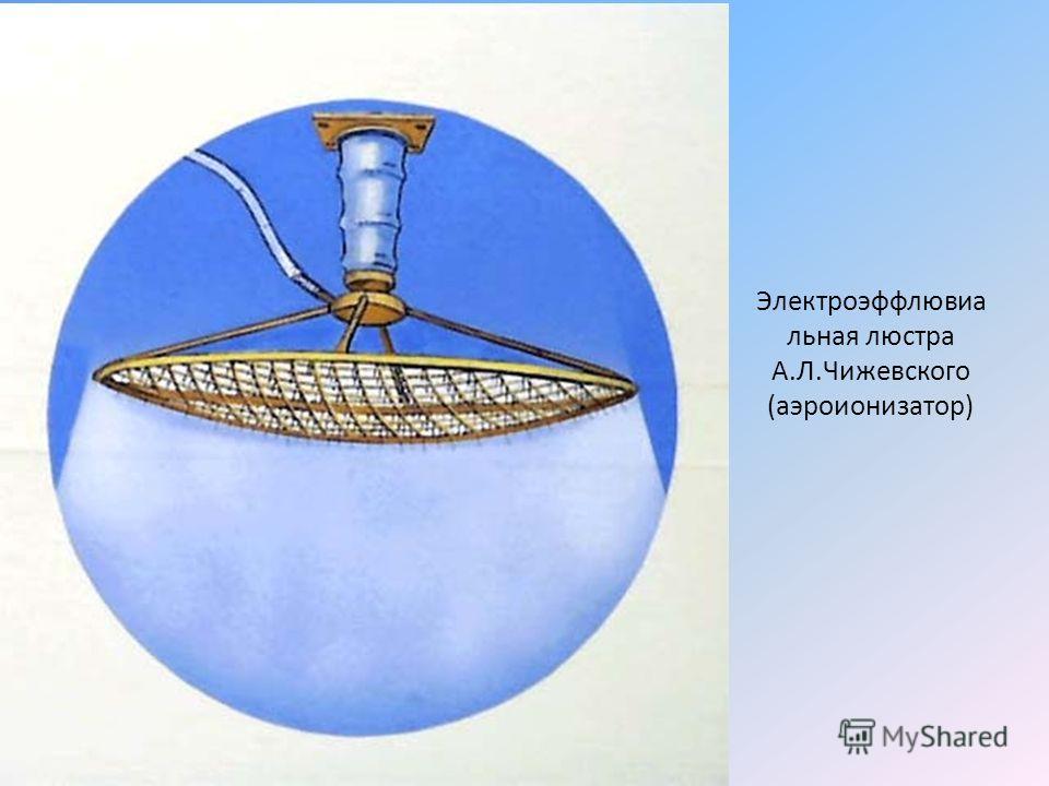 Электроэффлювиа льная люстра А.Л.Чижевского (аэроионизатор)
