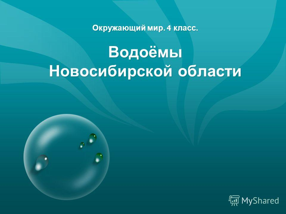 Окружающий мир. 4 класс. Водоёмы Новосибирской области