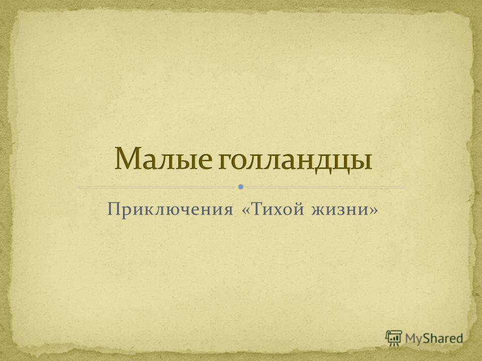Приключения «Тихой жизни»