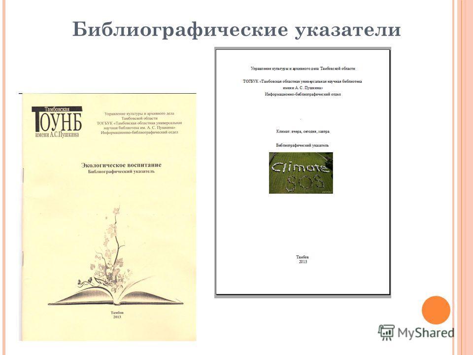 Библиографические указатели