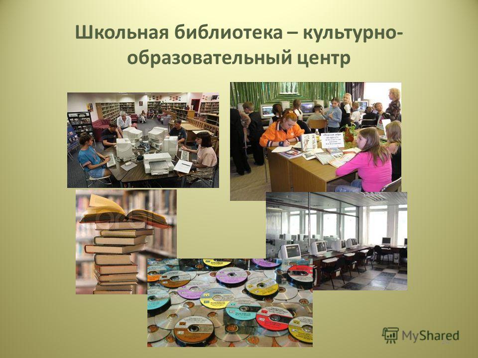 Школьная библиотека – культурно- образовательный центр 24