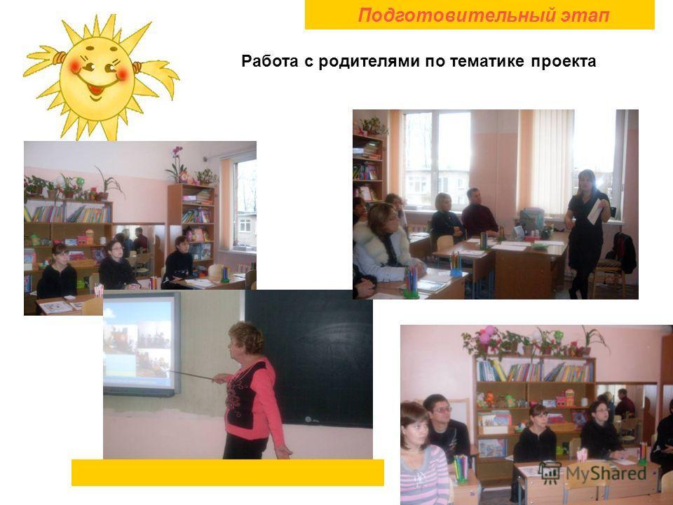 Подготовительный этап Работа с родителями по тематике проекта