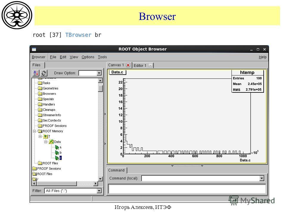 Browser Игорь Алексеев, ИТЭФ