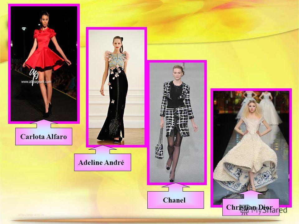 Carlota Alfaro Adeline André Chanel Christian Dior