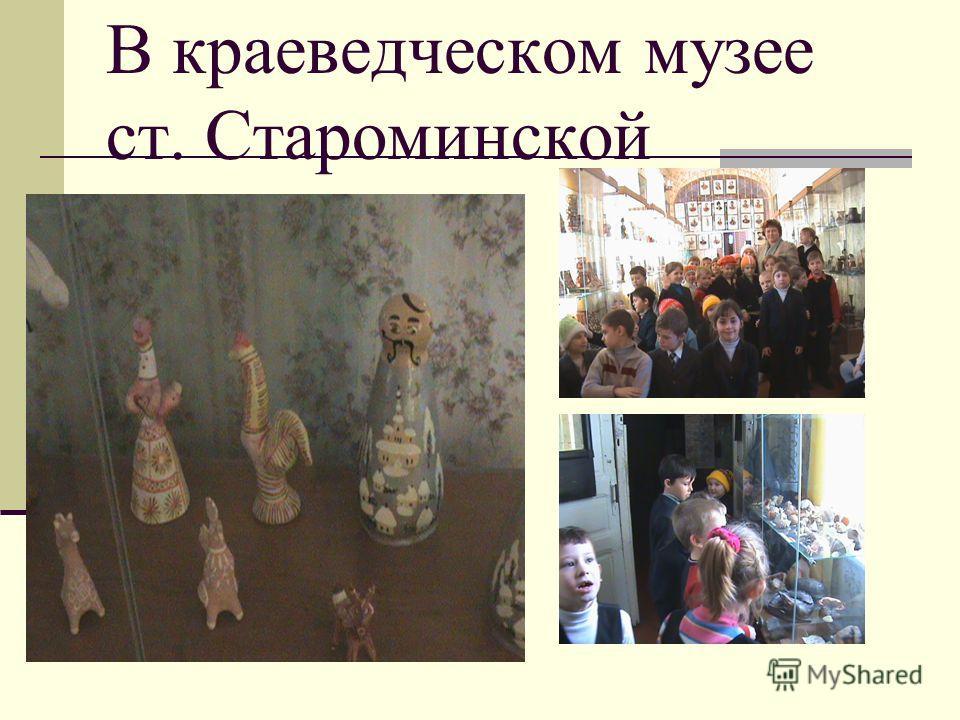 В краеведческом музее ст. Староминской
