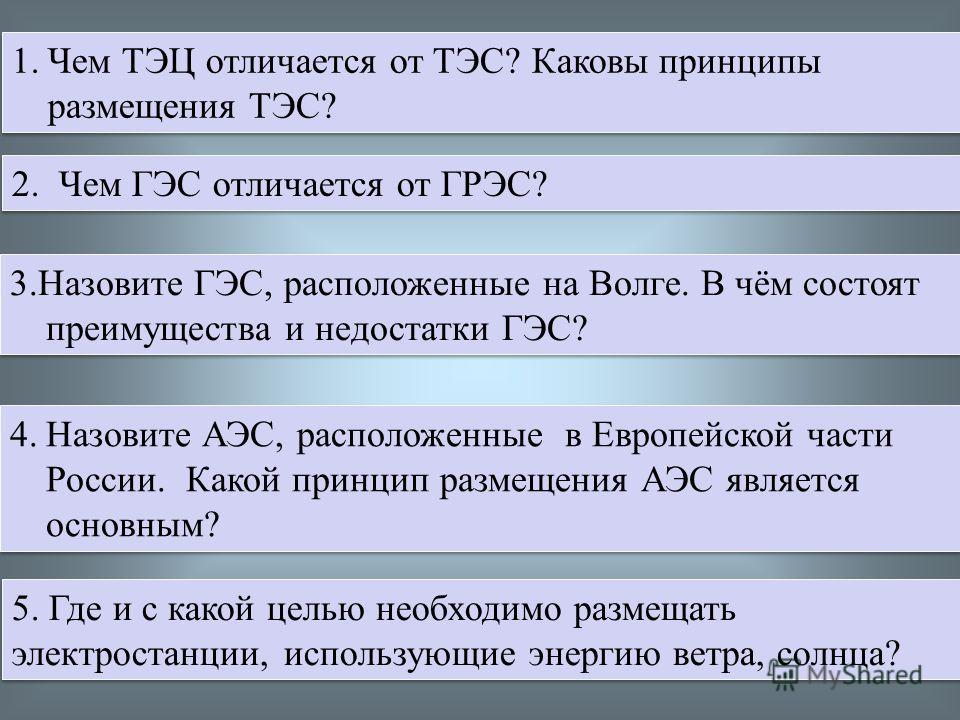 Единая энергосистема России -группы электростанций разных типов, объединённые линиями электропередачи (ЛЭП) высокого напряжения Цели ЕЭС: 1.Надёжное обеспечение потребителей энергией 2. Покрытие «пиковых» нагрузок 3. Использование разницы во времени