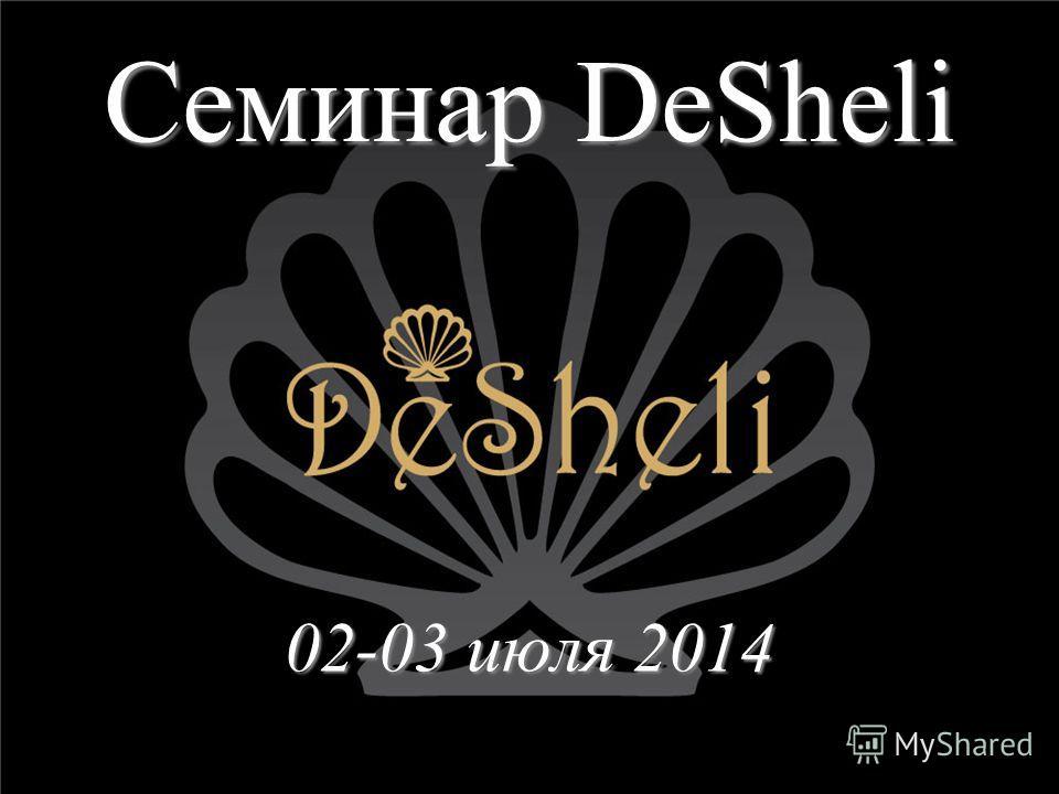 Семинар DeSheli 02-03 июля 2014