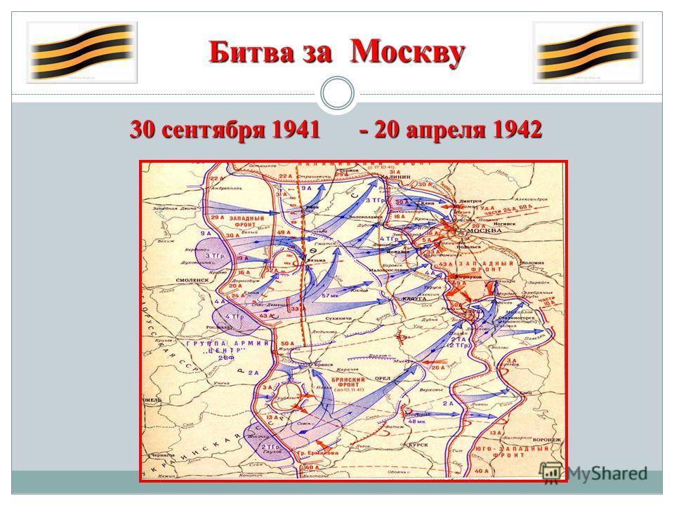 Битва за Москву 30 сентября 1941 - 20 апреля 1942
