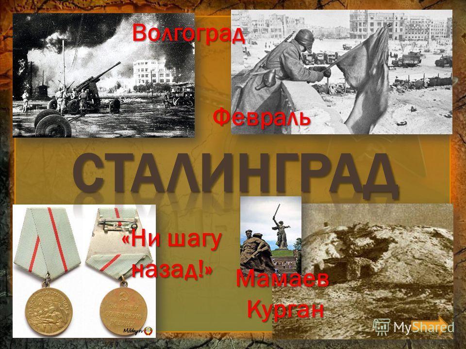 Февраль «Ни шагу назад!» Волгоград Мамаев Курган Курган