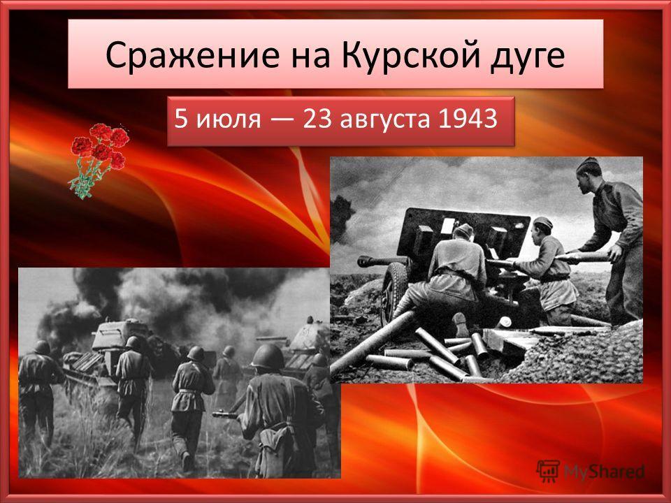 Сражение на Курской дуге 5 июля 23 августа 1943