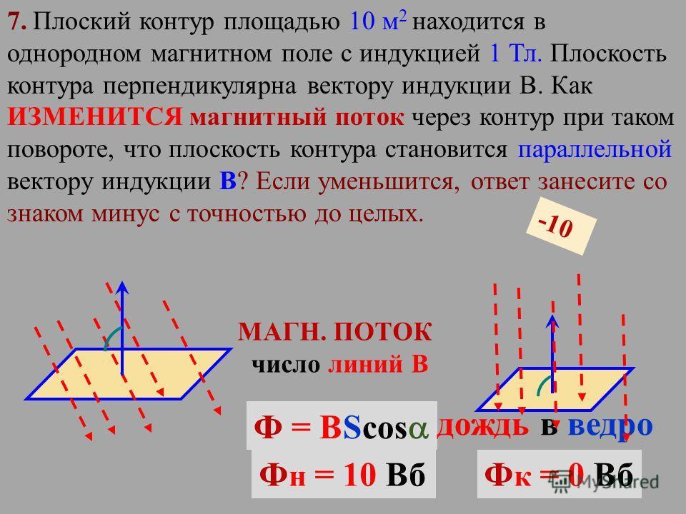 6. Как изменится сила Ампера, действующая на прямолинейный проводник с током в однородном магнитном поле, при увеличении индукции магнитного поля в 9 раза и уменьшении силы тока в 3 раза? Проводник расположен перпендикулярно вектору индукции. Если ум