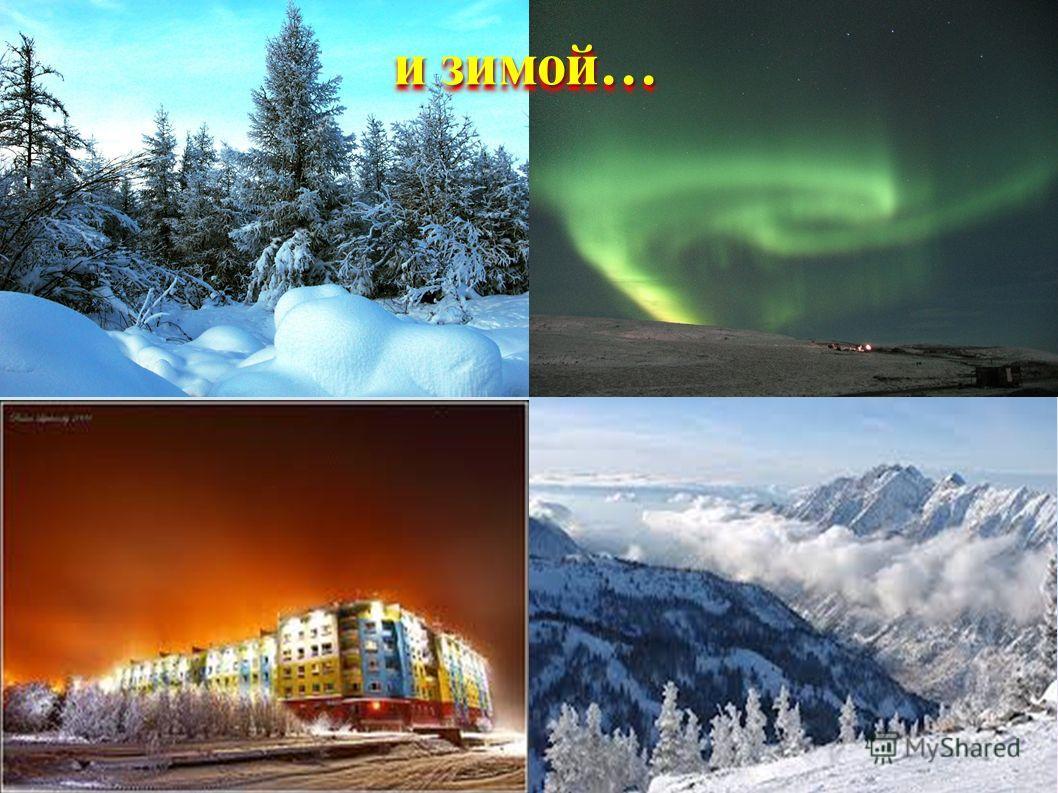 и зимой…