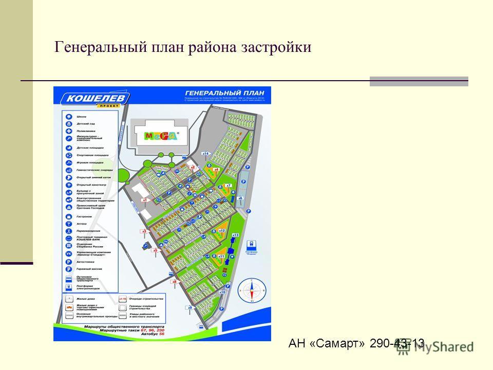 Генеральный план района