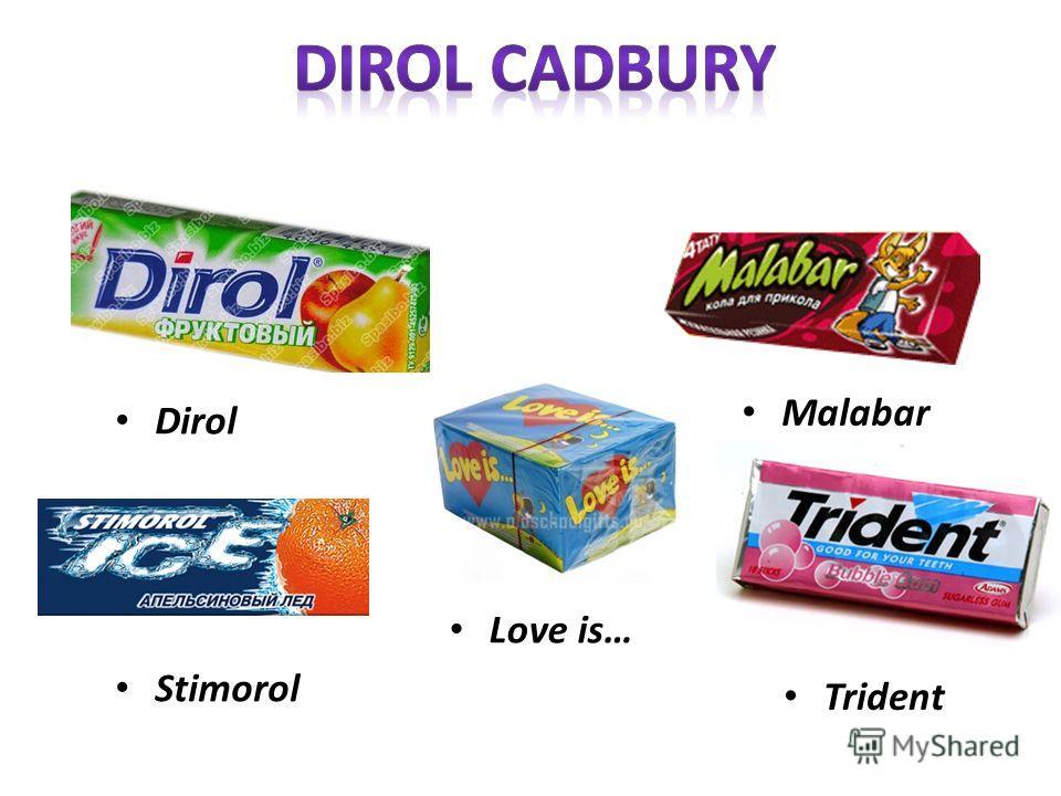 Dirol Stimorol Love is… Malabar Trident