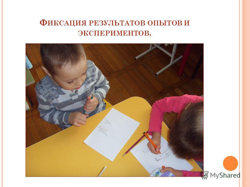 Ф ИКСАЦИЯ РЕЗУЛЬТАТОВ ОПЫТОВ И ЭКСПЕРИМЕНТОВ.