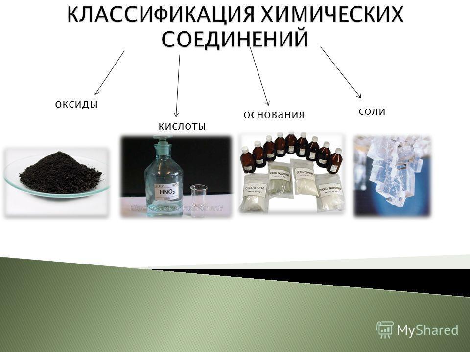 оксиды кислоты основания соли