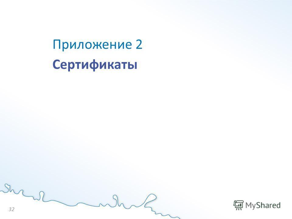 Приложение 2 Сертификаты 32