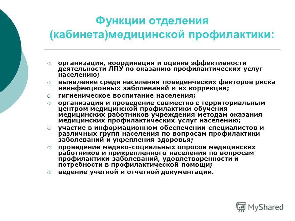 кабинет медпрофилактики и диспансеризации должностная инструкция