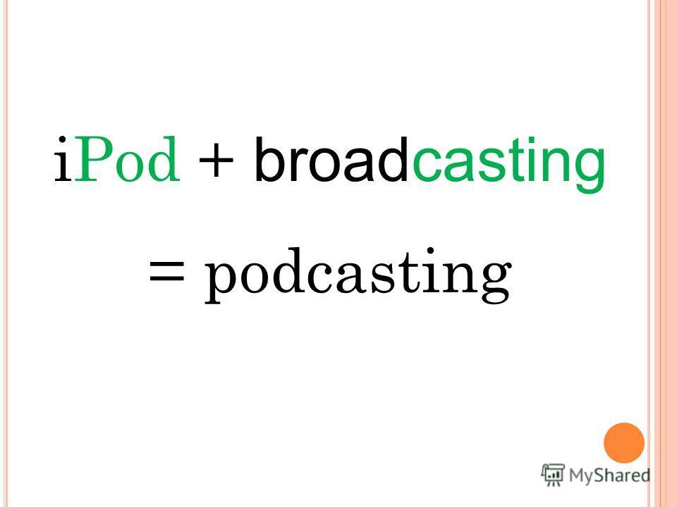 iPod + broadcasting = podcasting