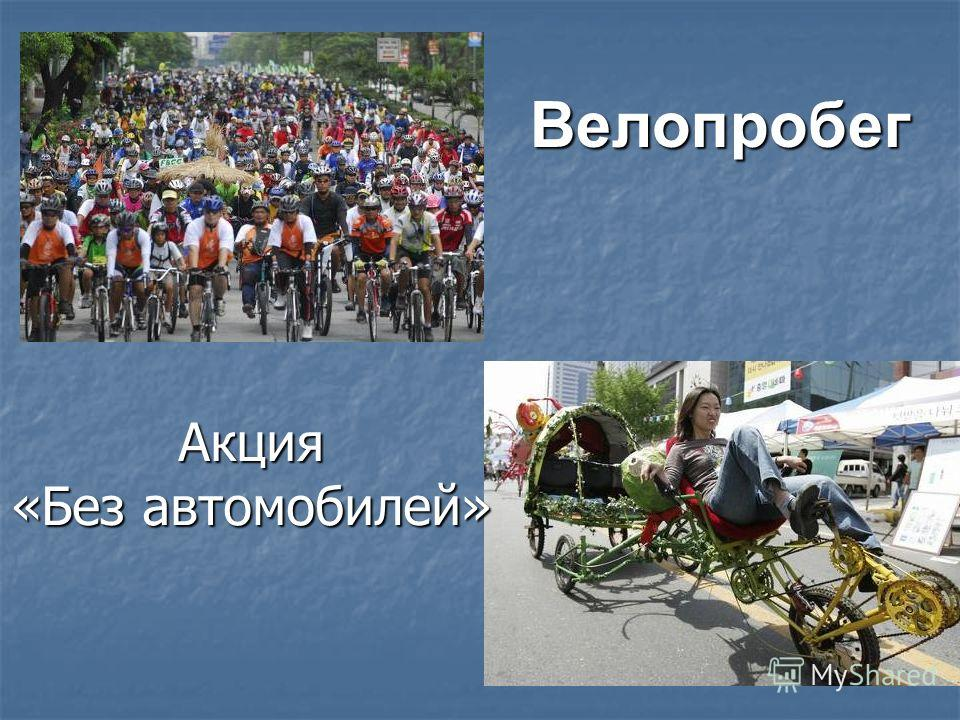 Велопробег Акция «Без автомобилей»