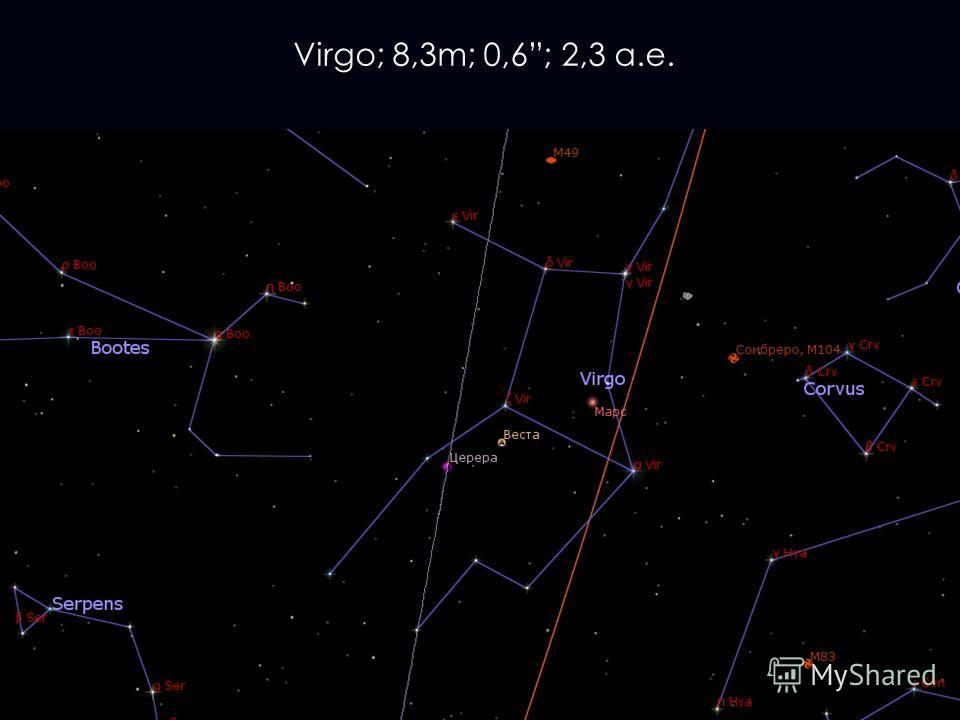 Virgo; 8,3m; 0,6; 2,3 а.е.
