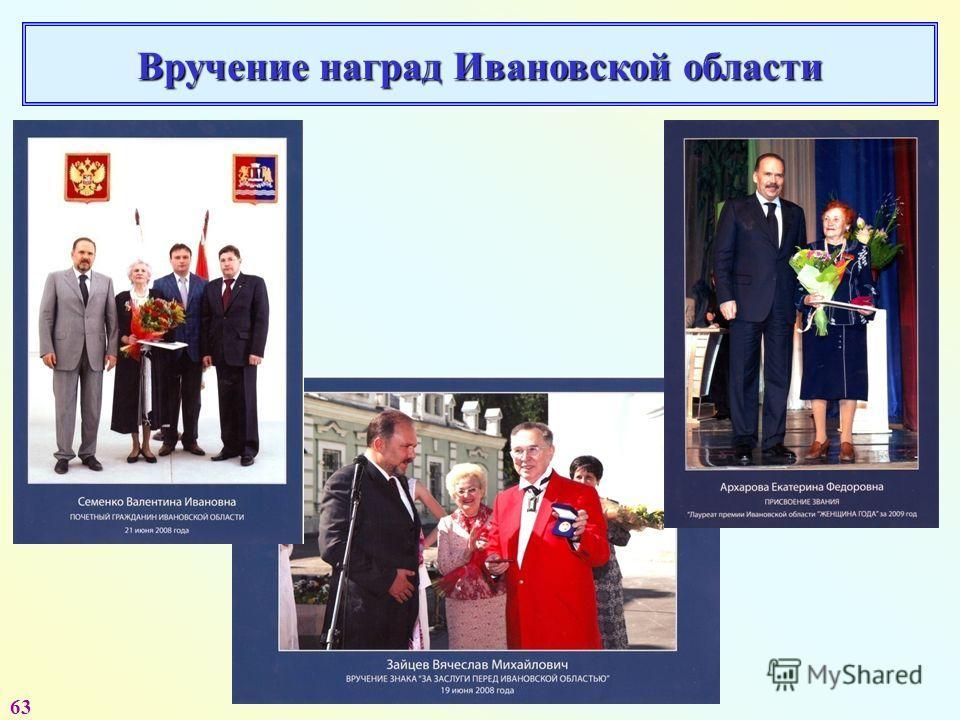63 Вручение наград Ивановской области
