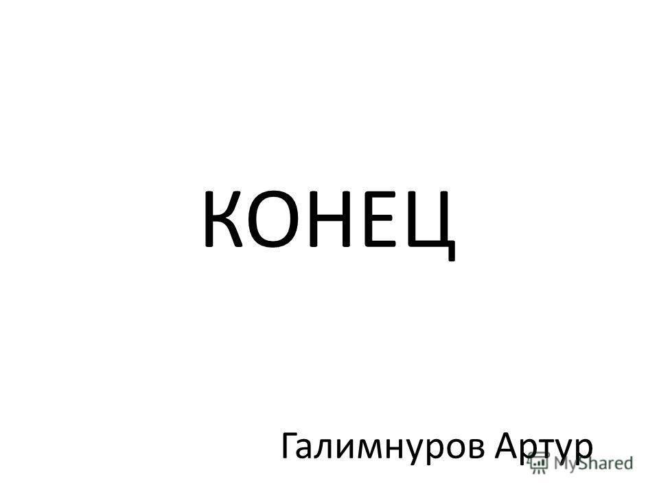 КОНЕЦ Галимнуров Артур