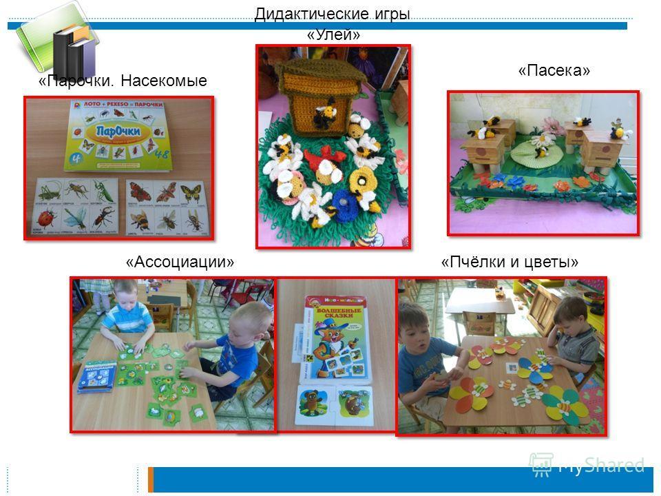 «Парочки. Насекомые «Улей» «Пасека» «Ассоциации»«Пчёлки и цветы» Дидактические игры