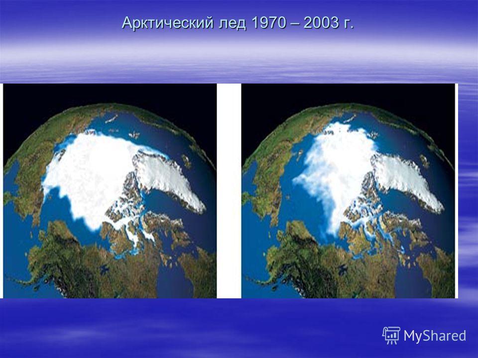 Арктический лед 1970 – 2003 г.