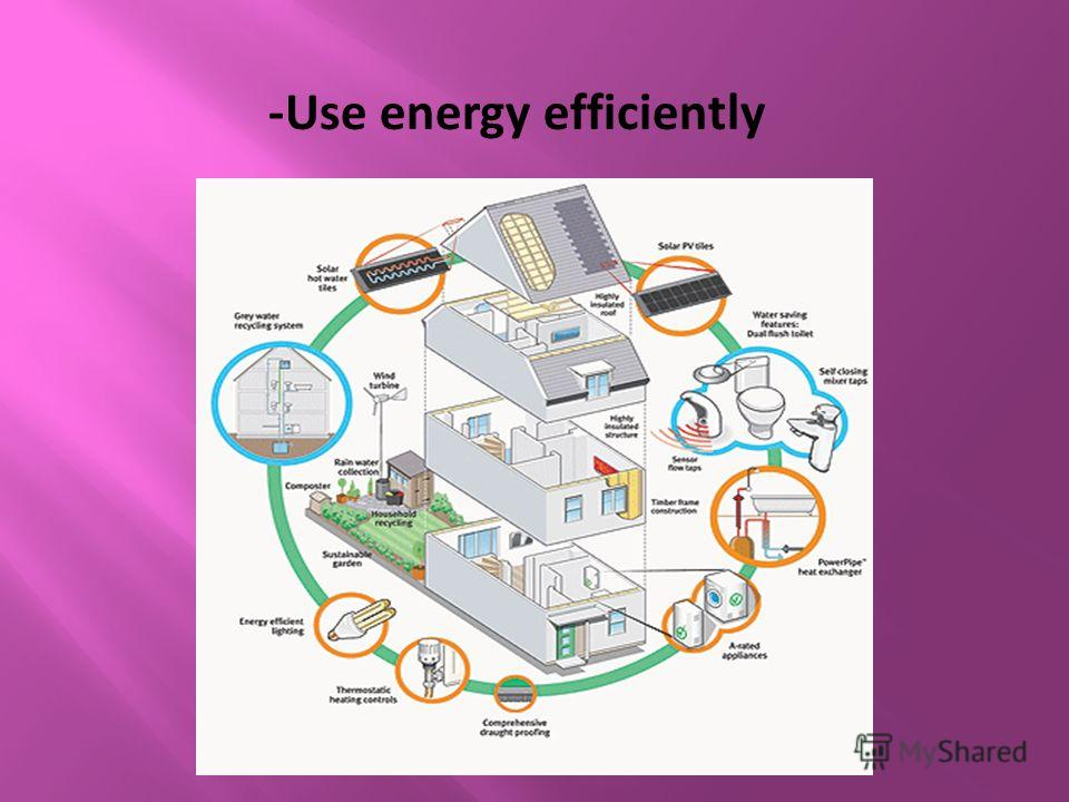 -Use energy efficiently