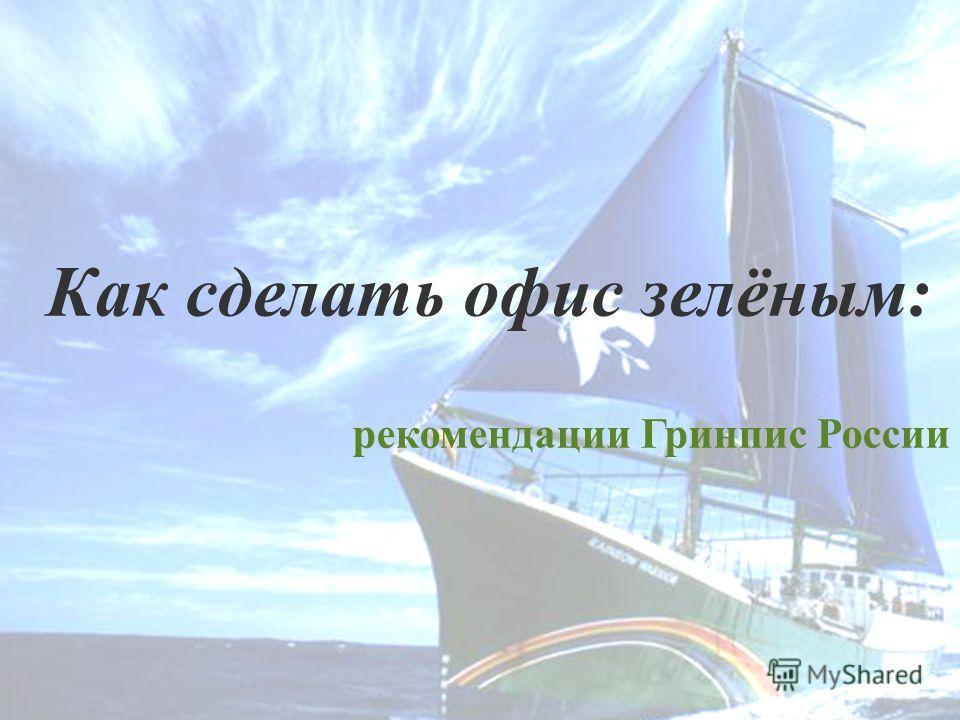 Как сделать офис зелёным: рекомендации Гринпис России