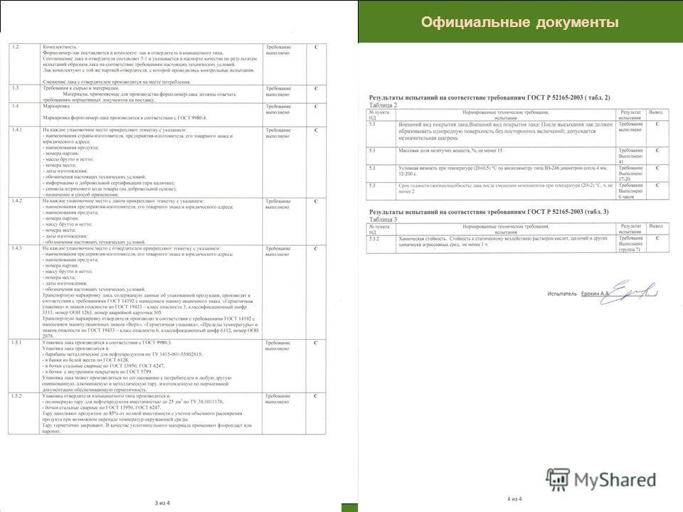 ПРОБЛЕМЫ Официальные документы