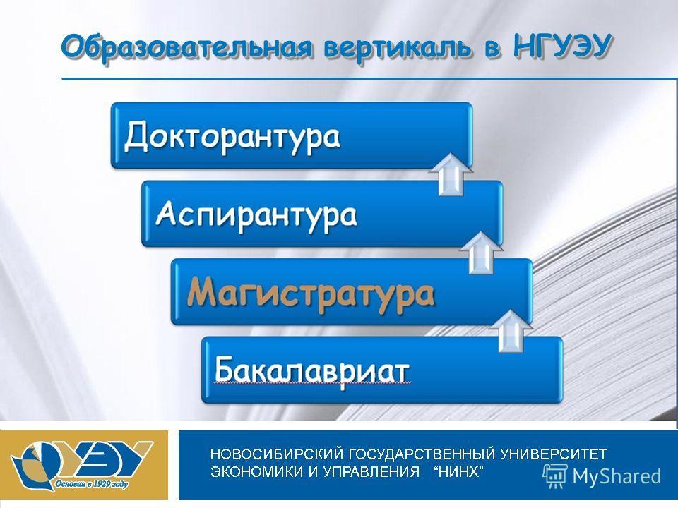 Новосибирский государственный университет экономики и управления Образовательная вертикаль в НГУЭУ