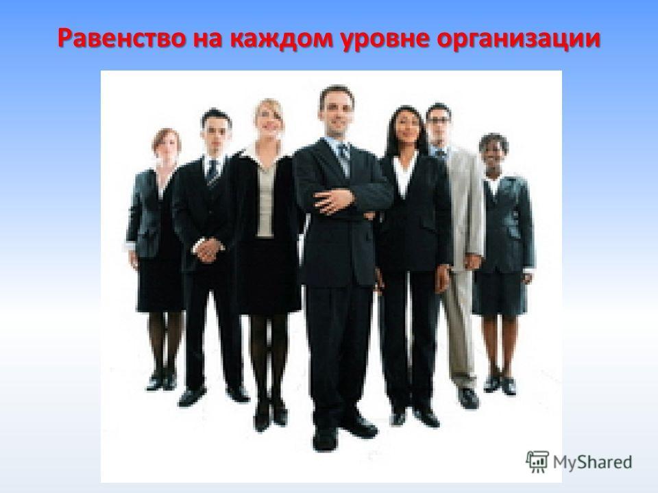 Равенство на каждом уровне организации