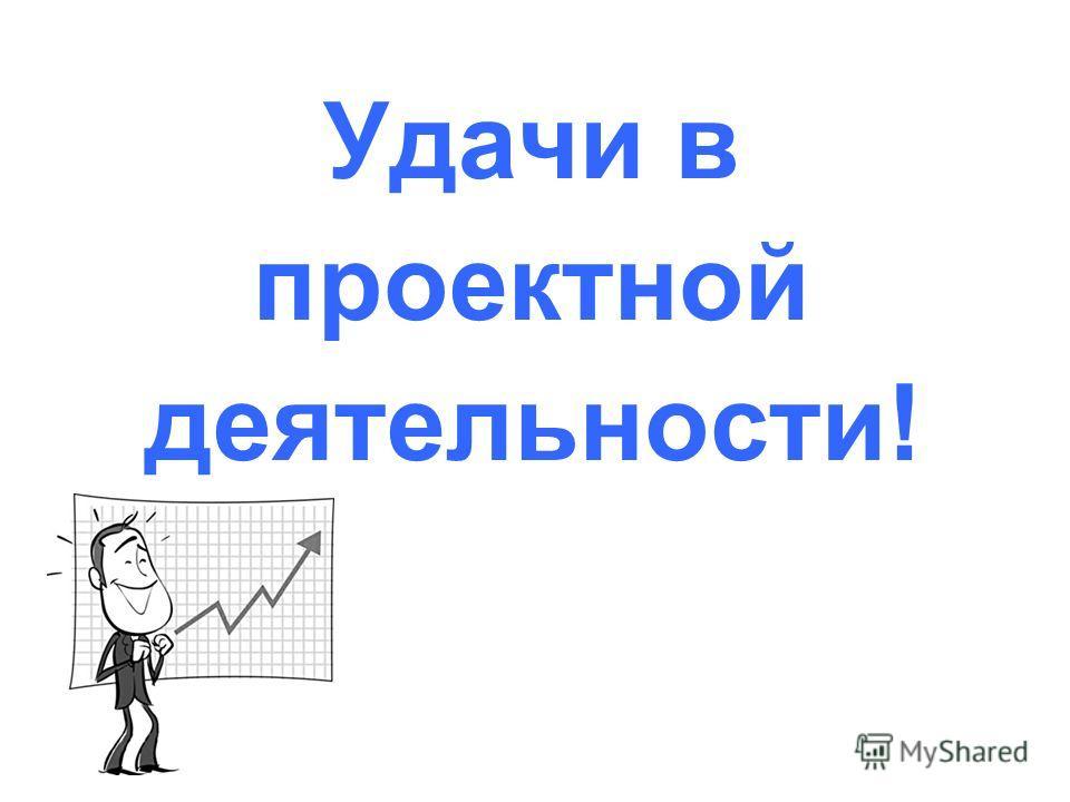 Удачи в проектной деятельности!