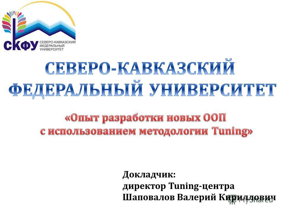 Докладчик: директор Tuning-центра Шаповалов Валерий Кириллович