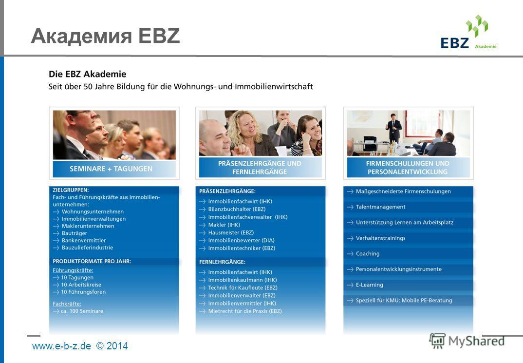 www.e-b-z.de © 2014 Академия EBZ
