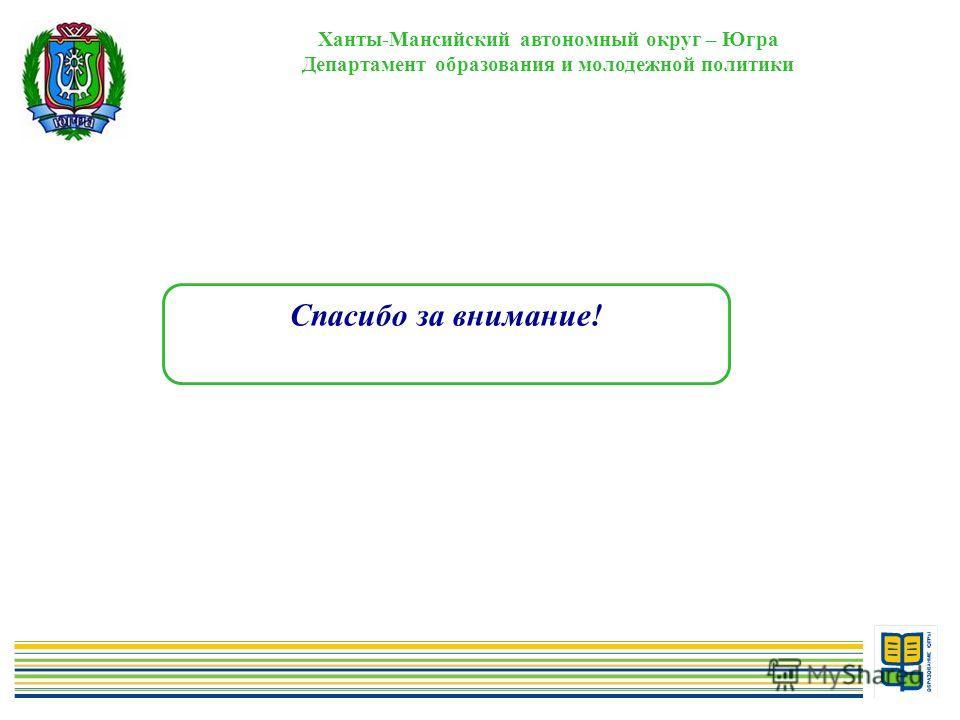 14 Ханты-Мансийский автономный округ – Югра Департамент образования и молодежной политики Спасибо за внимание!
